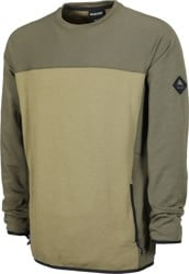 Burton Minturn Fleece Crew - keef heather/martini olive heather