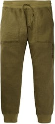 Burton Oak Fleece Pant - martini olive heather
