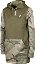 Burton Women's Oak Long Pullover Hoodie - martini olive heather/barren camo