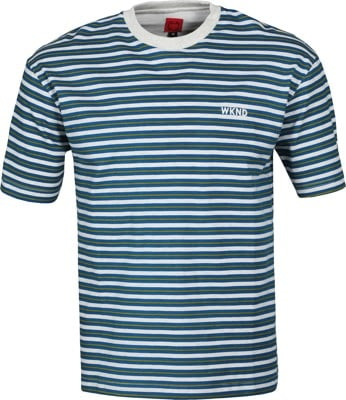 WKND Stripe T-Shirt - grey/green/blue - view large