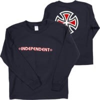 Independent Kids Bar/Cross L/S T-Shirt - navy