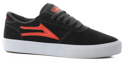 Lakai Manchester Skate Shoes - charcoal/flame suede - view large
