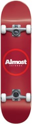 Almost Red Ringer 7.25 Complete Skateboard - red
