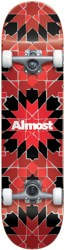 Almost Tile Pattern 7.75 Complete Skateboard - red