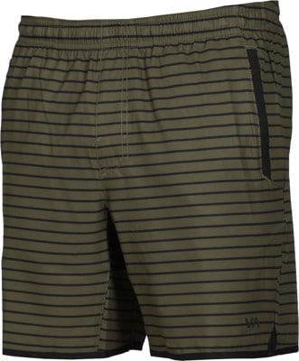 RVCA Yogger Stretch Shorts - green stripe - view large