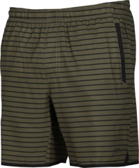 RVCA Yogger Stretch Shorts - green stripe