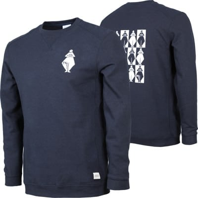 Gnu Forest Bailey 4 Eco Recycled Crew Sweatshirt - navy - view large