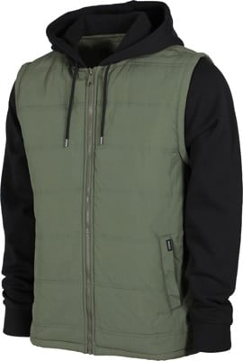 RVCA Logan Puffer II Zip Hoodie - sequoia green - view large