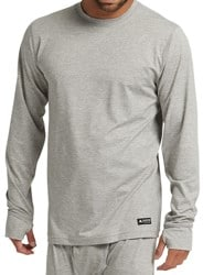 Burton Midweight Base Layer Crew - gray heather