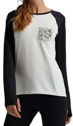 Burton Women's Roadie Base Layer Tech T-Shirt - stout white/avgard
