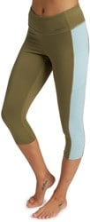 Burton Women's Midweight X Base Layer Three-Quarter Boot Pant - martini olive/ether blue