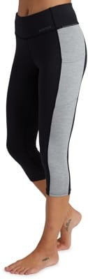 Burton Women's Midweight X Base Layer Three-Quarter Boot Pant - true black/gray heather - view large