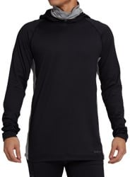 Burton Midweight X Base Layer Long Neck Hoodie - true black/gray heather