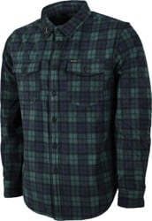 Dark Seas Zulu Polar Fleece Flannel Shirt - black/green