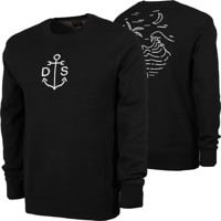 Dark Seas Catalina Crew Sweatshirt - black