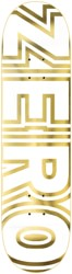 Zero Team Bold 8.5 Skateboard Deck - white/gold