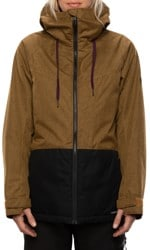 686 Athena Insulated Jacket - golden brown melange colorblock
