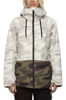 686 Athena Insulated Jacket - white camo colorblock - view large