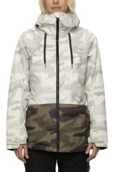 686 Athena Insulated Jacket - white camo colorblock