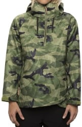 686 Women's Waterproof Anorak Softshell Jacket - moss leaf camo