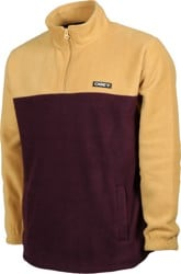 Obey Eulogy Mock Neck Sweatshirt - almond multi