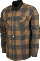 Roark Nordsman Flannel Shirt - dark khaki plaid