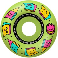 Spitfire Formula Four Radial Skateboard Wheels - skate like a girl/glow(99d)