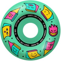 Spitfire Formula Four Radial Skateboard Wheels - skate like a girl/mint(99d)