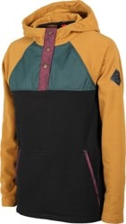 686 Women's Hemlock Fleece Hoodie - golden brown colorblock