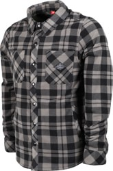 686 Sierra Fleece Flannel Shirt - charcoal plaid