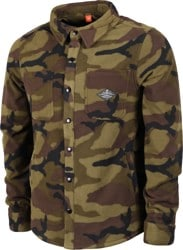 686 Sierra Fleece Flannel Shirt - dark camo