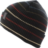 Autumn Multi Stripe Beanie - black