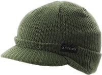 Autumn Visor Beanie - army green