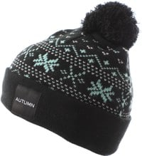 Autumn Wonderland Pom Beanie - black