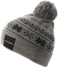 Autumn Wonderland Pom Beanie - grey