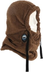 Coal Ridge Hood Face Mask - brown