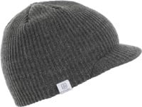 Coal Ray Visor Beanie - charcoal