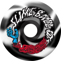 Santa Cruz Slime Balls Vomits Re-Issue Skateboard Wheels - black/white swirl (97a)