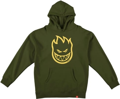 Spitfire Kids Bighead Hoodie - alpine green/yellow - view large