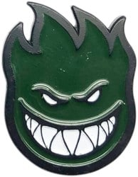 Spitfire Bighead Lapel Pin - dark green
