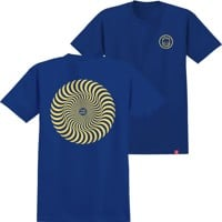 Spitfire Kids Classic Swirl T-Shirt - royal/yellow