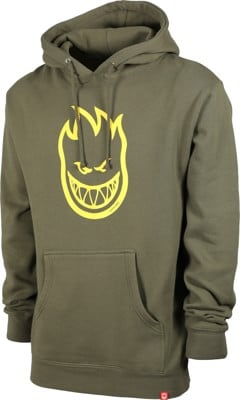 Spitfire Bighead Hoodie - army/yellow print - view large