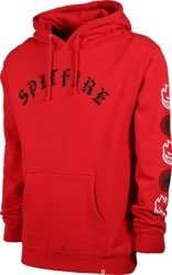 Spitfire Old E Combo Sleeve Hoodie - red/black/white