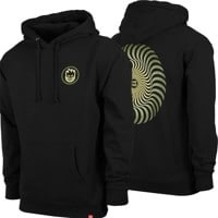 Spitfire Classic Swirl Fade Hoodie - black/olive/yellow