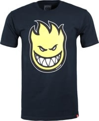 Spitfire Bighead Fill T-Shirt - navy/yellow