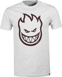 Spitfire Bighead T-Shirt - athletic heather/dark red print