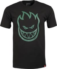 Spitfire Bighead T-Shirt - black/dark green print