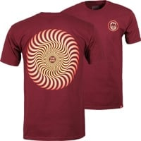 Spitfire Classic Swirl Fade T-Shirt - burgundy/red/yellow