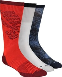 Nike SB Everyday MAX LTWT 3-Pack Sock - obsidian/white/red