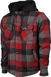 686 Flannel Jacket - oxblood plaid